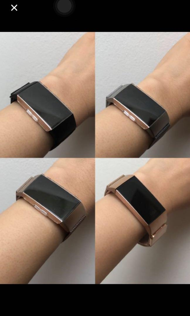 Fitbit charge 3 straps - rose gold, Sports, Sports Apparel