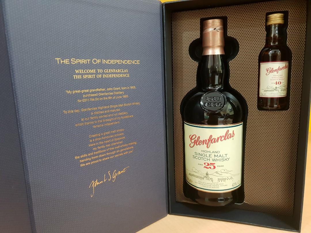 a2da105a66b Glenfarclas 25 year old + 40 year mini whisky