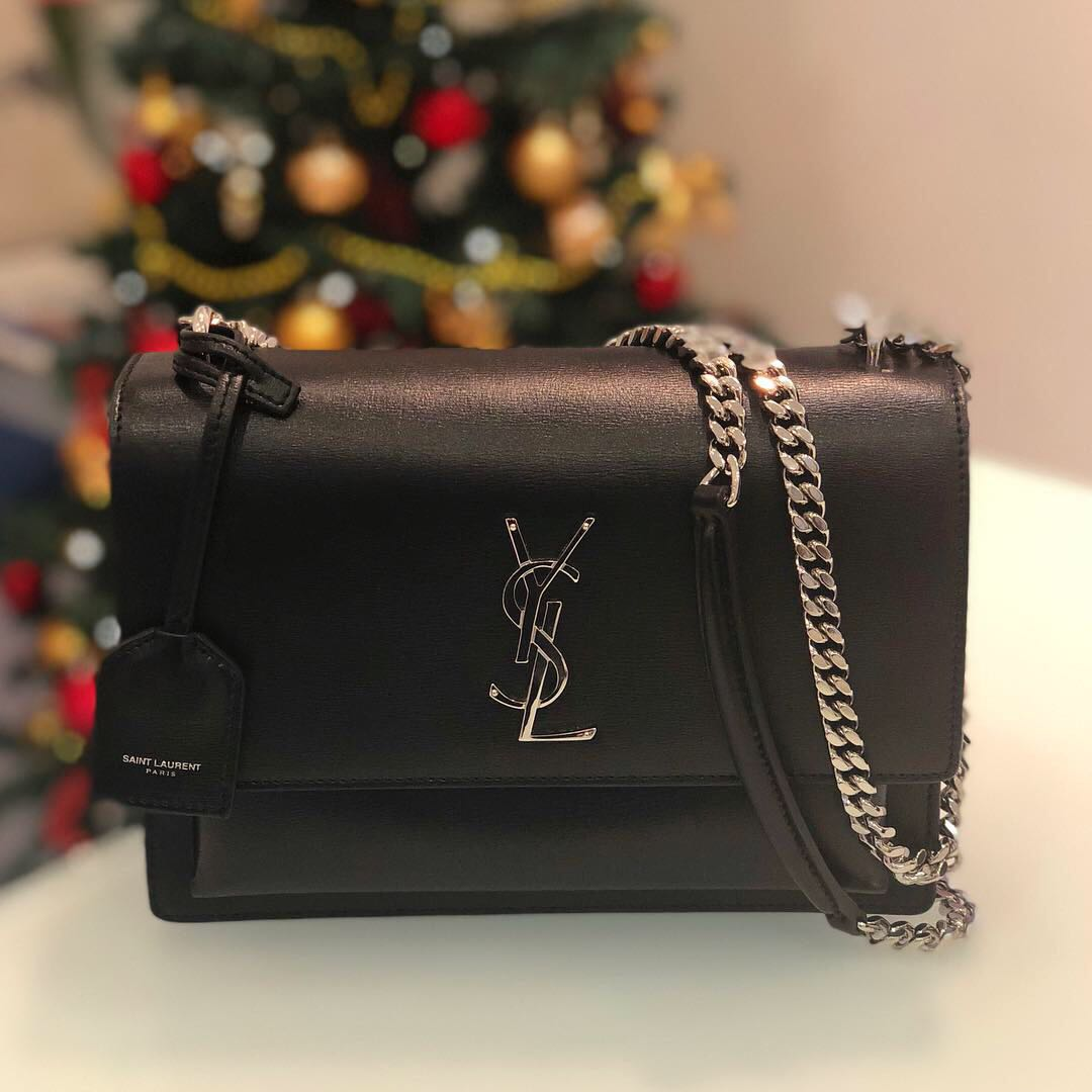 a5f76504c607 🖤Good Deal!🖤 Saint Laurent Medium Sunset Bag in Black Calfskin SHW ...