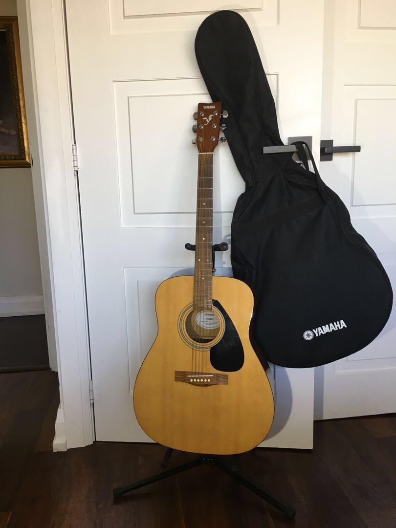Guitar, stand & canvas case & picks