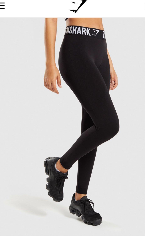 56e804732c3908 Gymshark Fit Leggings Black Size S, Sports, Sports Apparel on Carousell