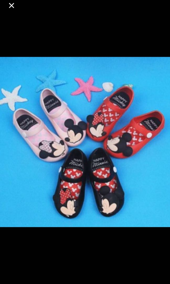 1dc18bfab630 Instock Mickey Mouse jelly shoe brand new gd quality left black and ...