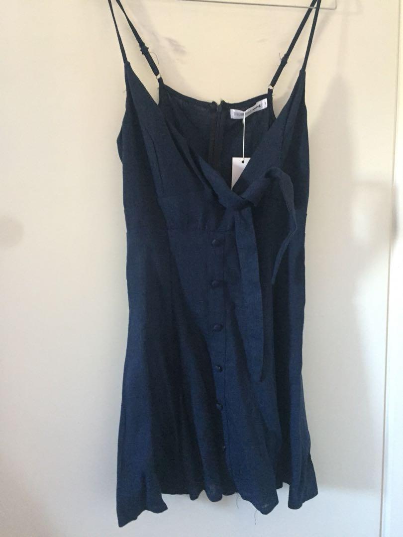 Morning Mist - Navy Dress Size 8