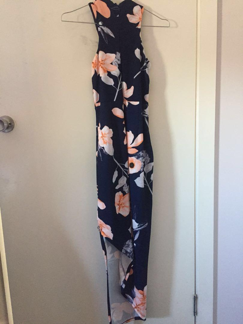 Navy Floral Dress Size 8