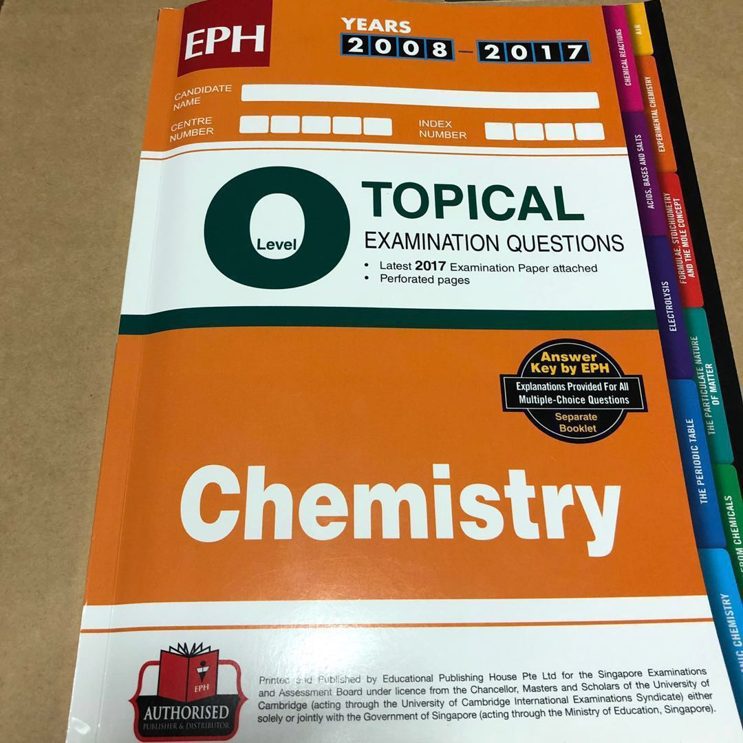 NEW 2018 2017 O level Chemistry Topical Ten year series Tys