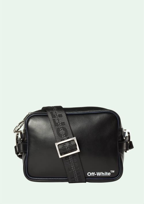 87959fa5f Off White Black Leather Crossbody Bag, Men's Fashion, Bags & Wallets,  Others on Carousell