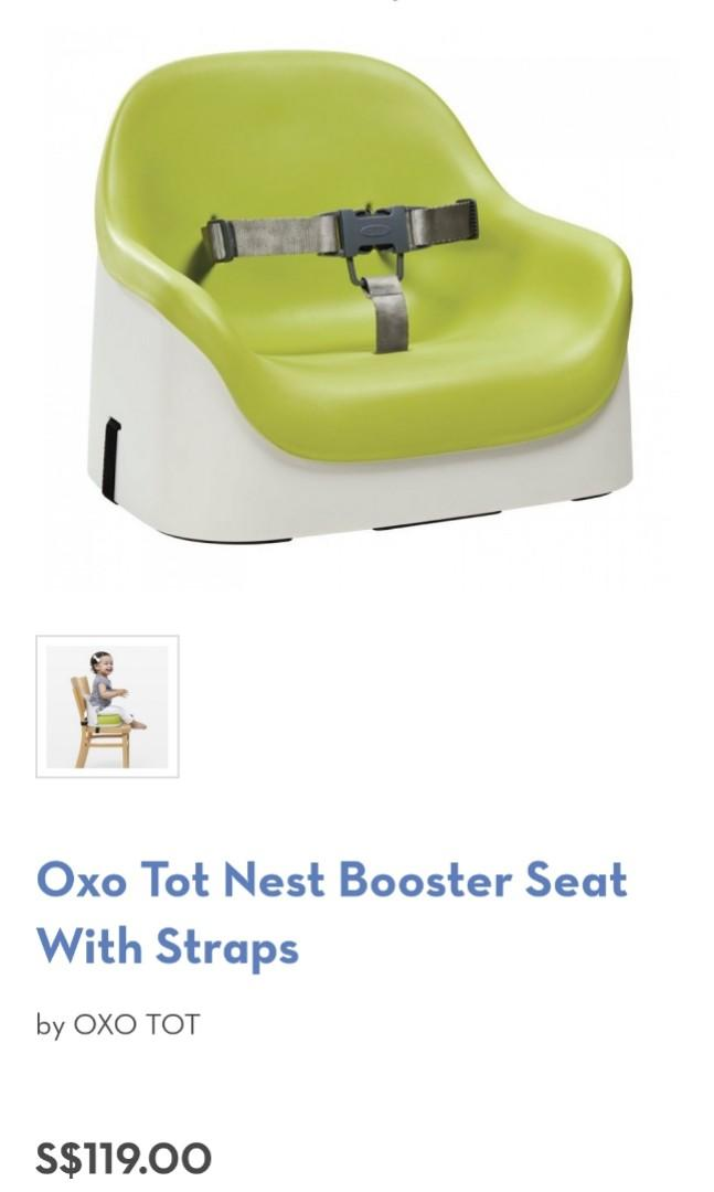 Oxo Tot Nest Booster Seat With Straps Babies Kids Nursing Feeding On Carousell
