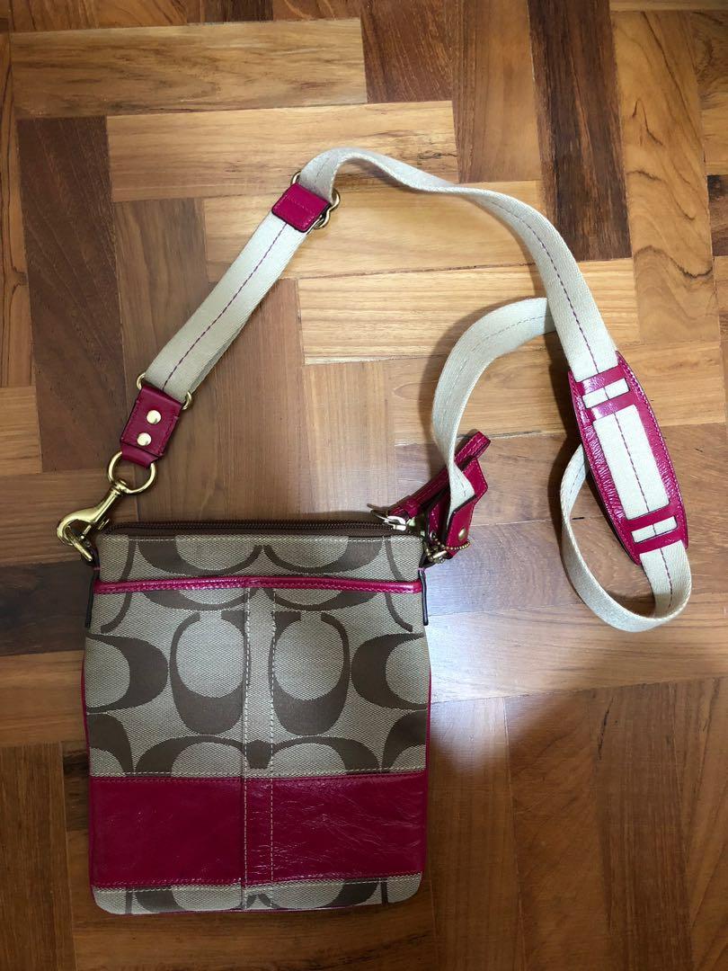 ea07ef9b1c29 Pink Coach Crossbody Messenger Bag (Used 1x)