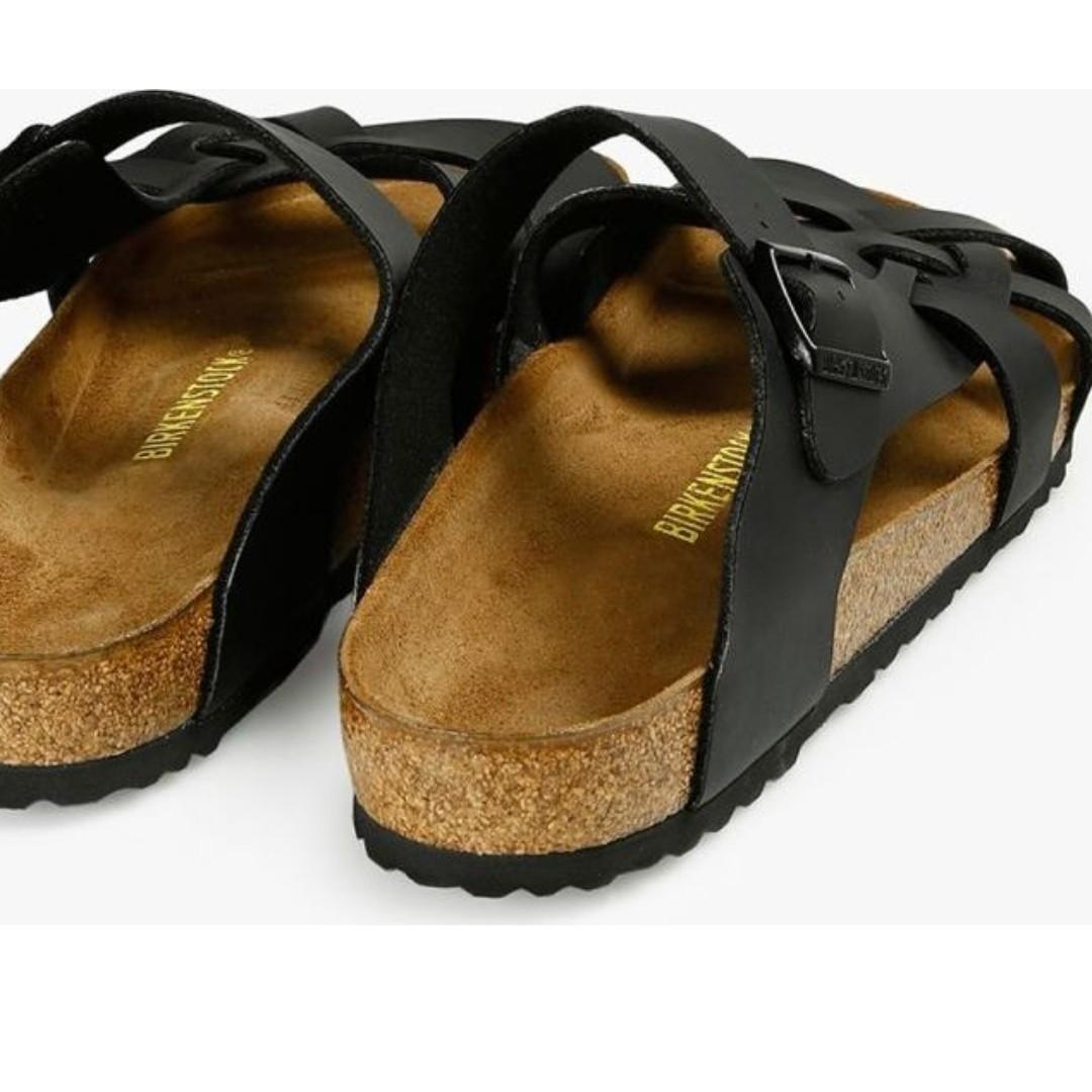 352f373f9 PREOWNED) Like NEW! Birkenstock Pisa Birko-Flor Black Sandals ...