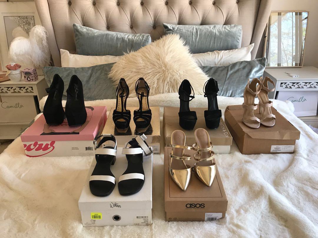 Range of Shoes (Jeffrey Campbell, Mimco, Kurt Keiger, Public Desire, Wittner & ASOS) - Size 4-6