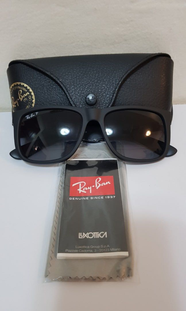 370ff664c0dc Rayban Justin 4165 Polarized, Men's Fashion, Accessories, Eyewear ...
