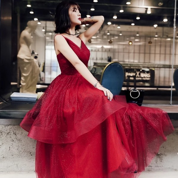Red Evening Dress Long Dinner Dress Maxi Dress Bridal Dress Wedding Dress Bridesmaid Dress Prom Dress Rent
