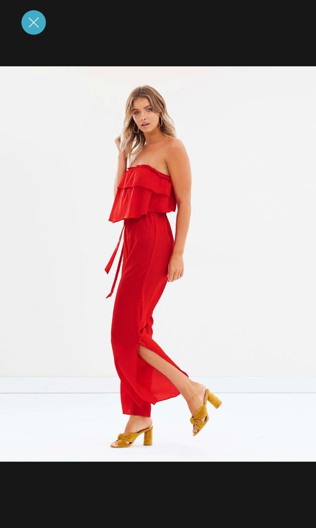 Red jumpsuit size 10