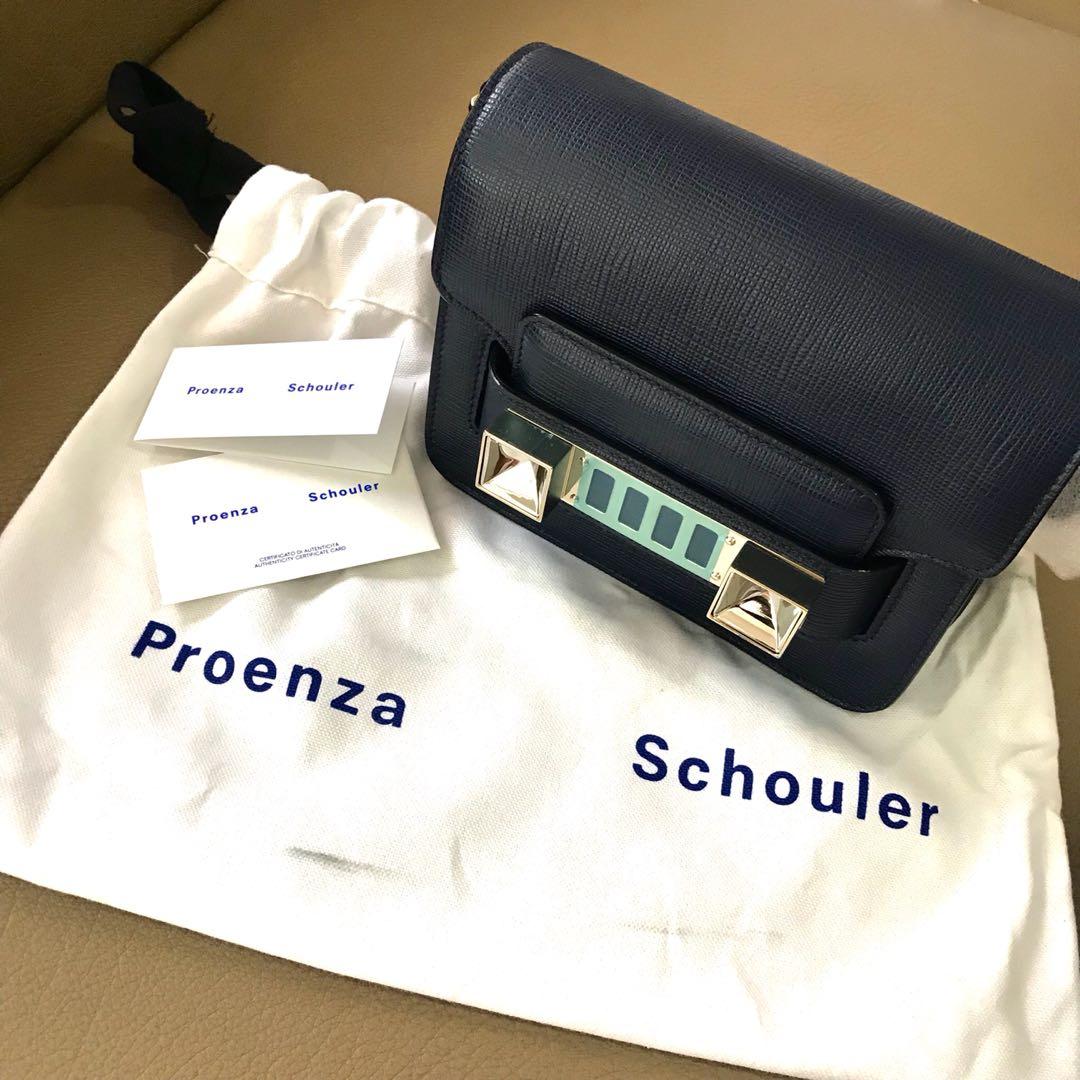 4e43dabb2e4a9a Original Proenza Schouler Sling Bag PS11 Mini Crossbody Tas Murah Branded  Navy Blue, Women's Fashion, Women's Bags & Wallets on Carousell