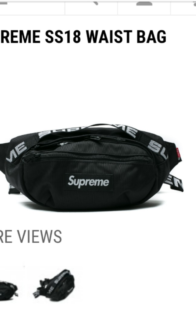 ae4cff4a939 Supreme waist bag ss18, Men's Fashion, Bags & Wallets, Sling Bags on  Carousell