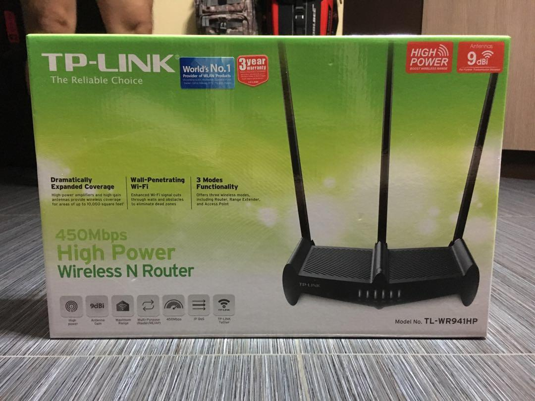 TP-Link 450 Mbps High Power Wireless N Router TL-WR941HP
