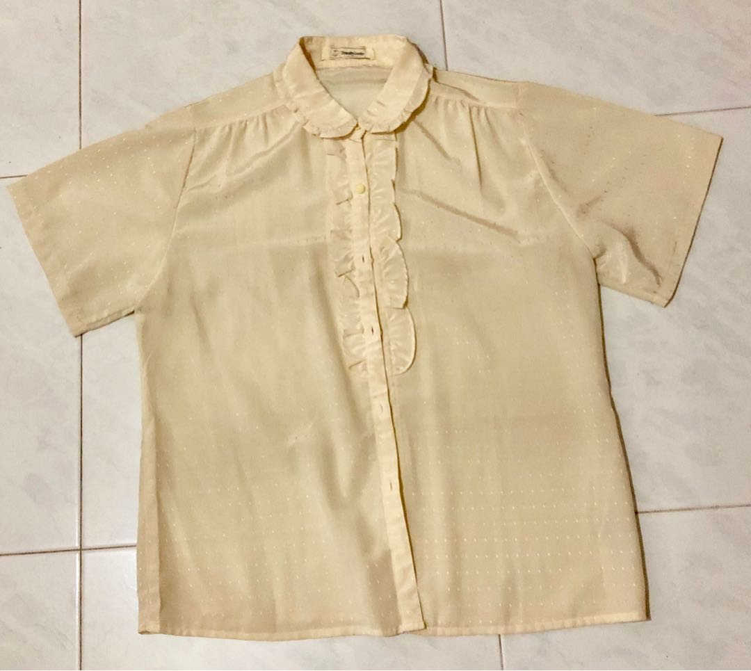 bf9894ba Vintage blouse, Women's Fashion, Clothes, Tops on Carousell