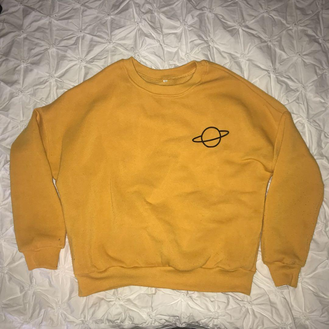 YELLOW JUMPER WITH SPACE DESIGN