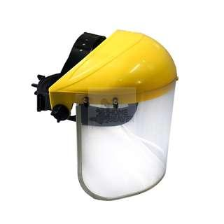 BN Yellow Top Safety Face Shield with Clear Visor