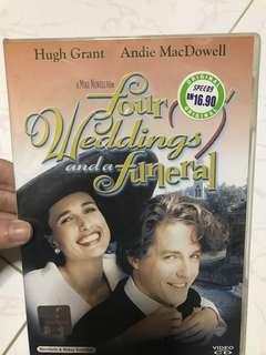 VCDs - 4 weddings & a funeral