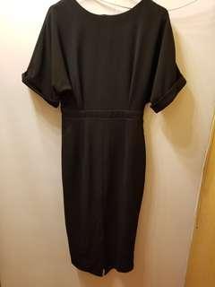 ASOS Split Front Black Dress