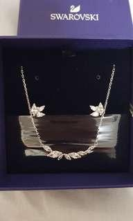 Swarovski Louison Set with earrings stud and necklace brand new authentic