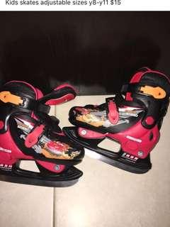 Kids adjustable skates 8y-11y
