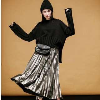 🚚 全新轉賣BOWWOW KOREA~金屬百褶裙
