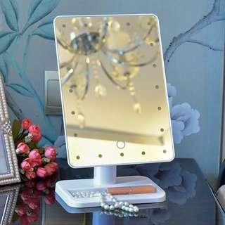 Cosmetic mirror with 16 led lights