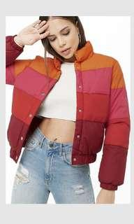 BNWT Colorblock puffer jacket