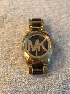 Michael Kors Gold Leopard Print Watch