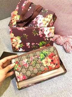 💯Authentic Gucci Limited Edition Bloom Collection Zip Wallet