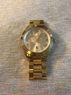 Michael Kors Gold and crystal watch