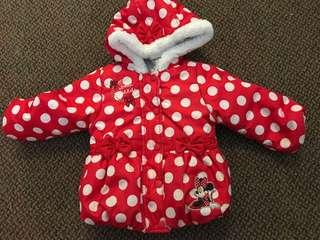 Disney Baby Minnie Mouse Winter Jacket 18-24 Months