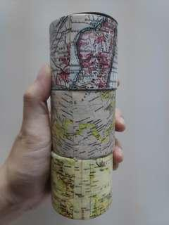 Daiso Map Design Duct Tape