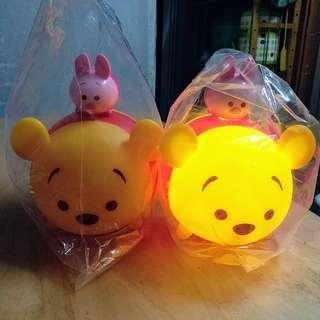 卡通/家電/玩具類: 7-11 Tsum Tsum 小熊維尼燈 Winnie the Pooh