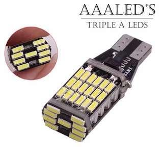 🚚 (1 PAIR) T15 45SMD 4014 ERROR FREE LED REVERSE BULB