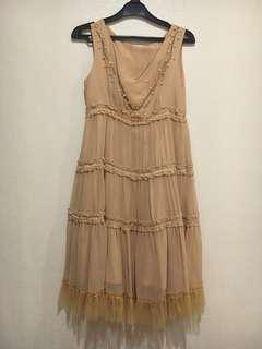Dress Pendek Warna Creme