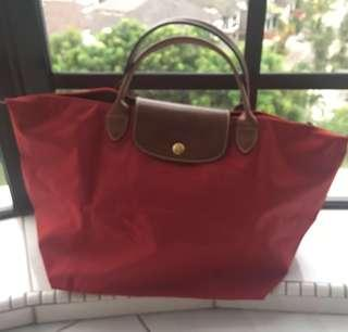 PRICE REDUCED 💯Guaranteed Authentic Longchamp Le Pilage Big Tote Red Colour Brand New Unused
