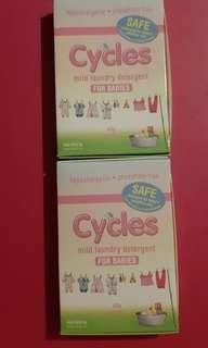 Cycles Detergent 40g & Cradle Cleanser 35ml
