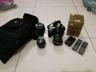 Nikon D200 - 3 lenses, 4 batteries