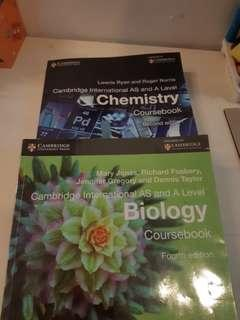 A-Level Chemistry and Biology CIE Coursebook