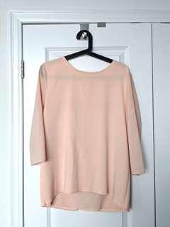 Ann Taylor M Blush Shirt w. Back Flap