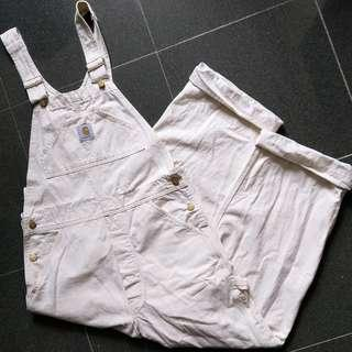 [ 古著 ] 90s Carhartt cotton worker overalls 吊帶工人褲