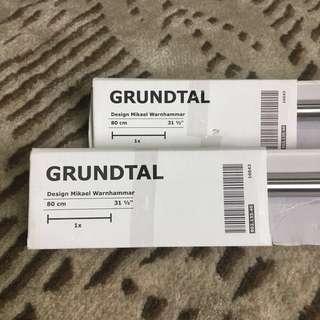IKEA GRUNDTAL stainless steel towel rail hanger 80 cm