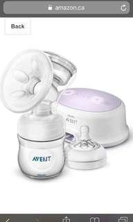 Avent electric pump with lots of bottles