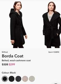 Aritzia Wilfred Borda Coat Black Size Small