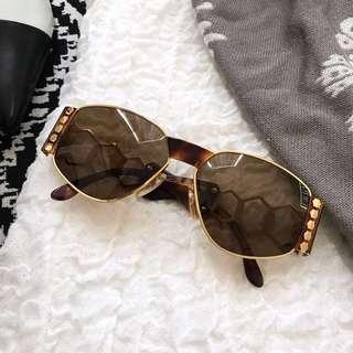美國二手Vintage 正品Givenchy 蜜蜂皇后太陽眼鏡