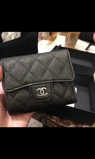 Chanel black Caviar wallet