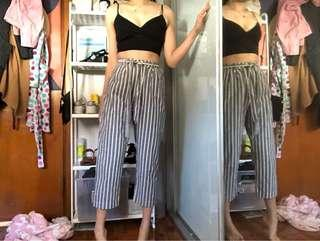 Princess Highway Blue White Striped High Waisted Pants